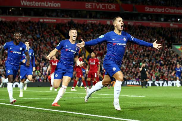 Biến Liverpool thành 'trò hề', Hazard giúp Chelsea lội ngược dòng ngoạn mục tại Anfield